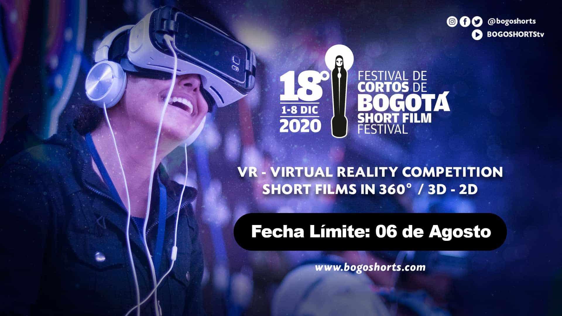 Patrocinios para participar en la competencia de realidad virtual del 18° BogoShorts.