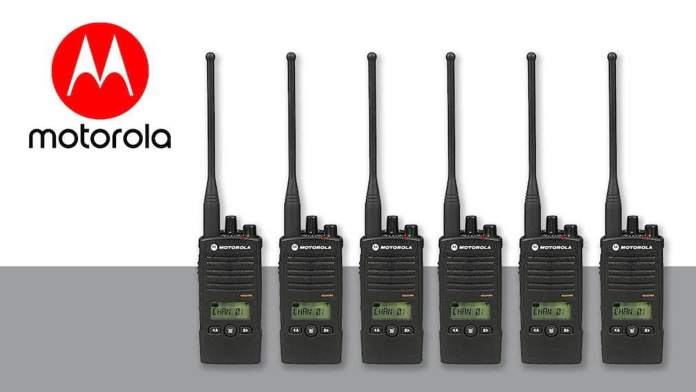 Los radios Motorola ahora forman parte de nuestro inventario de equipos.